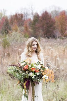 Purple and Yellow Autumn Bouquet | photography by http://www.reveriesupply.com/