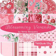Blossoming Veranda Fat Quarter Bundle Verna Mosquera for Free Spirit Fabrics - Fat Quarter Shop
