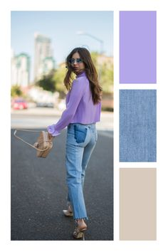 Secretos para combinar prendas de colores #TiZKKAmoda #lavanda #combinar #color #cor #trend Colour Combinations Fashion, Fashion Colours, Black Women Fashion, Look Fashion, Fashion Tips, Clothing Store Displays, Color Blocking Outfits, Look Blazer, Colourful Outfits