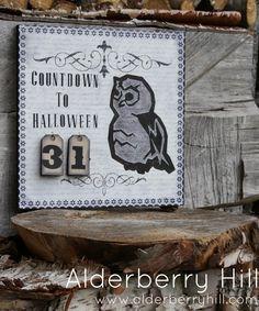 alderberri hill, halloween craft, diy countdown, halloween countdown, craft idea, advent calendar, halloween calendar, countdown to halloween, calendar inspir