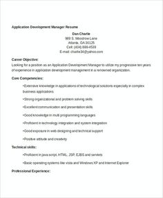 Manager Resume Template Sample Pdf  Professional Manager Resume