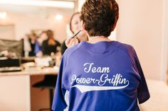 Custom baseball jerseys for the bridal party and mom // Ben + Colleen Photography