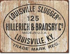 New #louisville slugger 125 logo antique vintage look #baseball bat tin #metal si,  View more on the LINK: http://www.zeppy.io/product/gb/2/282302770724/