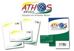 JuRehder - Criação de Logo e material institucional para Athos Brasil Soluções em unidades móveis.