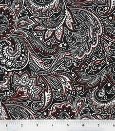 Keepsake Calico Keepsake Calico Cotton Fabric - Paisley Black White Red - Fabric - Quilt Fabric - Fabric at JOANN Paisley Fabric, Paisley Pattern, Paisley Print, Fabric Patterns, Print Patterns, Calico Fabric, Textiles, Black White Red, Paisley Design
