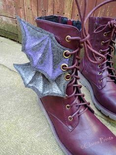 Clare Sherwen Printmaker/Painter: Steampunk Boot Wings
