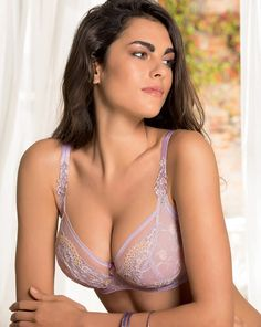 """éprise by Lise Charmel - """"Instant Chic"""" 3/4 Balconette Bra in Lilac (SS18)"""