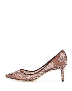 S0F6J Jimmy Choo Romy Lace 60mm Pump, Bordeaux