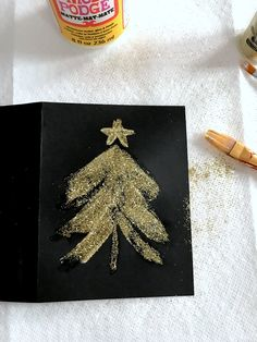 how-to-make-glitter-christmas-cards-step-2