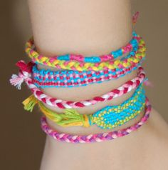 DIY Friendship Bracelets - have your kids create & give them as a way to watch patterns come alive (pre-math skills)
