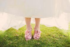 RUFFLED HIGH HEELS   wedding shoes I love   The Knotty Bride™ Wedding Blog + Wedding Vendor Guide