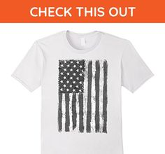 Mens Black and White American Flag 4th July T-Shirt 3XL White - Holiday and seasonal shirts (*Amazon Partner-Link)