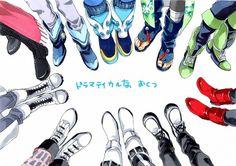 I see Mink, Ren, Aoba, Koujaku, Noiz, Clear, Sei, and I think Virus and Trip.