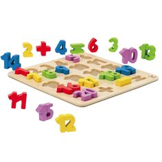 Numbers Puzzle from Oompa Toys $18  http://www.oompa.com/collections/wooden-puzzles/products/hape-numbers-puzzle