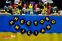 decoracion fiesta infantil batman - Buscar con Google