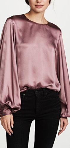 balloon silk blouse