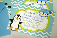 Pinguin Party Invitation