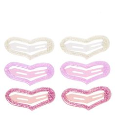 Claire's Accessories Glitter Heart Snap Hair Clips * Click image for more details.