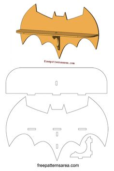 Laser Cutting Batman Wall Shelf Woodworking Plan