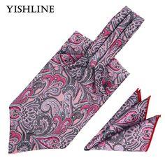 LJT01-19 Formal Men's Cravat Tie Set Handkerchief 100% Silk Pink Brown Paisley Ascot Tiess Sets Pocket Square Wedding Party. Yesterday's price: US $7.41 (6.04 EUR). Today's price: US $7.69 (6.30 EUR). Discount: 45%.