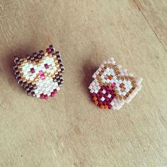 Les petites chouettes de @rose_moustache 💕 #motifrosemoustache #miyuki #jenfiledesperlesetjassume