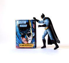Portemonnaie BATMAN D.C. Comic upcycling Unikat! Geldbörse, Brieftasche, Geldbeutel Batman Comic wallet handmade in Berlin von PauwPauw auf Etsy