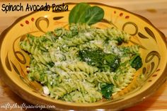 Spinach Avocado Pasta – Pin It! Try It!
