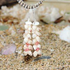Momi & Kahelelani shell earrings /Niihau shell by ShellsHawaii