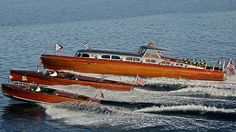 3 Beautiful Classic Wooden Boats - Lake Tahoe Concours d' Elegance Wooden Boat Show. Boat Dock, Pontoon Boat, Riva Boat, Wooden Speed Boats, Chris Craft Boats, Classic Wooden Boats, Classic Boat, Vintage Boats, Float Your Boat