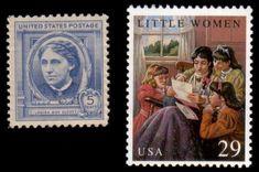 Literary Stamps: Alcott, Louisa May (1832-1888)