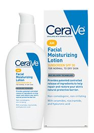 Facial Moisturizing Lotion AM - CeraVe - spf 30 and sinks right in, make-up goes on really well over top..