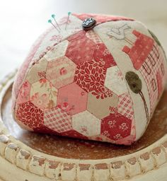 """587 Likes, 16 Comments - Martingale (@martingaletpp) on Instagram: """"This Little House pincushion makes us  and it doubles as a sampler of techniques: applique,…"""""""