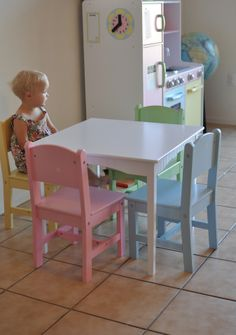 Nantucket Table u0026 4-Pastel Chairs. #kidkraft #momblog #kidsfurniture & It looks like we all got our dream home~Featuring KidKraft #kidkraft ...
