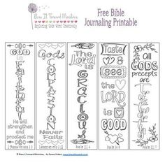 Bless It Forward Ministries - Free Printables Bible Study Tools, Scripture Study, Bible Art, Bible Verses, Bible Bookmark, Bookmarks, Bible Journaling For Beginners, Art Journaling, Bible Coloring Pages