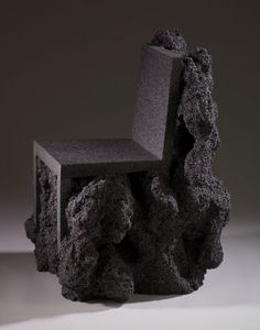 - Artist Ian Blasco has created a foam chair that looks heavy--as if it were carved out of volcanic rock. The Metamorphosis Chair by Ian Blasco is a . Design Furniture, Chair Design, Modern Furniture, Street Furniture, Plywood Furniture, Modular Furniture, French Furniture, Retro Furniture, Antique Furniture