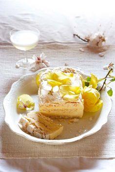 Frozen lemon meringue dessert.