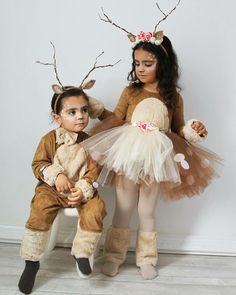 halloween costumes 2019 – New Ideas - Kids costumes Deer Halloween Costumes, Reindeer Costume, Christmas Costumes, Girl Costumes, Halloween Kids, Halloween Decorations, Halloween 2020, Girl Deer Costume, Toddler Girl Halloween Costumes