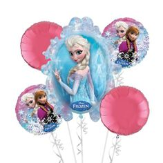 Frozen Balloon Bouquet 5pc