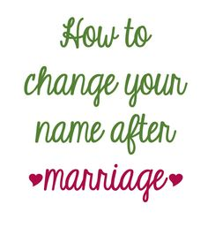 Step-by-step instructions on how to change your name after marriage - Potions & Poppy Seeds