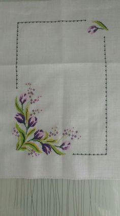 This Pin was discovered by gül Cross Stitch Borders, Cross Stitch Rose, Cross Stitch Flowers, Cross Stitch Designs, Cross Stitching, Cross Stitch Embroidery, Embroidery Patterns, Hand Embroidery, Cross Stitch Patterns