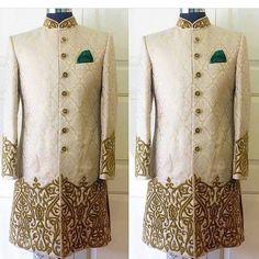 Nivetas Design Studio We ship worldwide Mens Sherwani, Sherwani Groom, Wedding Sherwani, Punjabi Wedding, Groom Wedding Shoes, Wedding Dress Men, Wedding Couples, Wedding Ideas, Bride Groom
