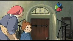 my kids just asked if they could make a traveling color disc for our door - like the one in howl's moving castle -    :')