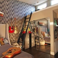 Pin for Later: These 19 Crazy Kids' Rooms Will Make You Want to Redecorate Immediately Music Den For a rock god or goddess to tune out the rest of the world.