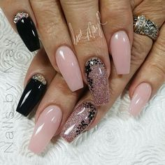 Pink, sparkle and black