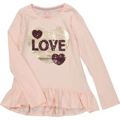 Kids Outfits Girls, Kids Girls, Boys, Baby Toys, Kids Toys, Love Logo, Pink Sequin, Girls Tees, Tk Maxx