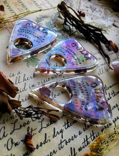 Nature filled, cruelty free resin art, jewelry, and crystals for the witchy soul. Diy Resin Art, Diy Resin Crafts, Wiccan, Witchcraft, Accesorios Casual, Witch Aesthetic, Book Of Shadows, Rose Petals, Resin Jewelry
