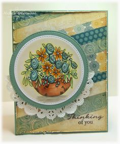 Welcome back to a super fun and cute release from Ladybug Crafts Ink ! These new images are called Bloomin' Fabulous and they c. Ladybug Crafts, Wink Of Stella, White Gel Pen, Great Pictures, Blue Flowers, Make It Simple, Cardmaking, Card Stock, Whimsical