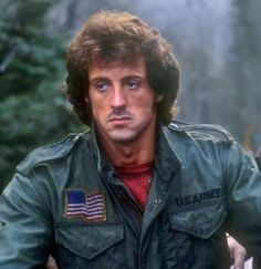 """Sylvester Stallone as John Rambo in """"First Blood"""" Sylvester Stallone Rambo, Frank Stallone, Stallone Rocky, Jackie Stallone, Sage Stallone, Action Movie Stars, Action Film, Action Movies, Brigitte Nielsen"""