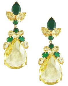 Bounkit Earrings in Lemon & Green Quartz exclusive at Wear To Kill.