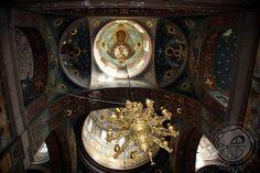 Theotokos dome icon in St Panteleimon Russian Orthodox Church of Novy Afon Monastery, Abkhazia